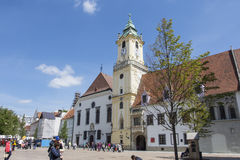 The town hall palace in Bratislava Stock Image
