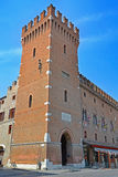 Town Hall (Palazzo Municipale) of Ferrara - Italy Royalty Free Stock Images
