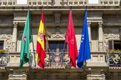 Town hall of Pamplona, Navarra, SPAIN. Royalty Free Stock Photos
