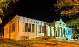 Town hall of Paphos at night Stock Image