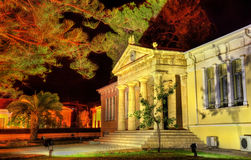 Town hall of Paphos at night royalty free stock photo