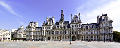 Town hall of Paris. Paris town hall in Chatelet Royalty Free Stock Image