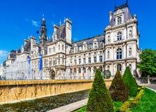 The town hall of Paris Hotel de Ville, France Stock Photos
