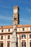 Town Hall and Piazza Aurelio Saffi in Forlì royalty free stock photography