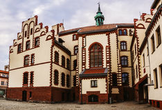 Town Hall Pisz. (Land Museum) is a city in the Warmian-Masurian Voivodeship in Poland Royalty Free Stock Images