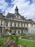 TOWN HALL AND PLACE JEAN JAURÈS Royalty Free Stock Photography