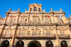 Town hall at Plaza Mayor in Salamanca, Castilla y Leon, Spain Royalty Free Stock Photo