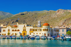 Town hall of Pohtia on Kalymnos Island, Greece Royalty Free Stock Images