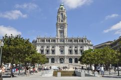 Town hall in Porto Royalty Free Stock Image