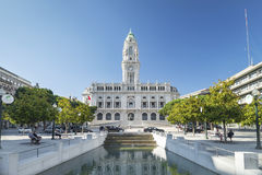 Town hall in porto portugal Royalty Free Stock Photos