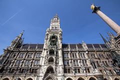 New Town Hall on Marienplatz, Munich, Germany Royalty Free Stock Photos