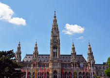 Town hall (Rathaus) of Vienna Stock Image