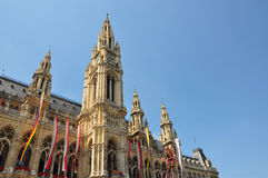 Town hall (Rathaus) of Vienna Stock Images