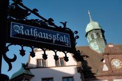 Town Hall at Rathausplatz in Freiburg im Breisgau, Germany. Royalty Free Stock Images