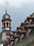Town Hall roof, Koblenz. The old town hall building in the Jesuitenplatz, the old town of Koblenz, Germany Stock Images