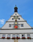 Town Hall at Rothenburg ob der Tauber Stock Image