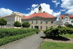Town hall in Sadska Stock Image