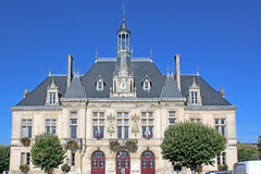 Town hall in Saint-Jean-d`Angely, France Royalty Free Stock Images