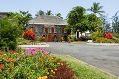 Town hall of Saint Leu on La Reunion island Royalty Free Stock Images