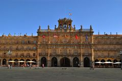 Town hall of Salamanca Royalty Free Stock Photo