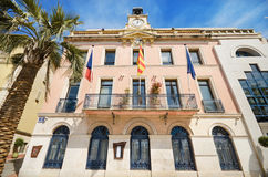 Town hall of Sanary Sur Mer, France Royalty Free Stock Photos
