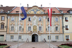 Town Hall of Sankt Veit an der Glan, Austria Royalty Free Stock Photography