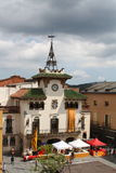 Town  hall Santa Celoni. Town hall square sant celoni in celebration of sant jordi Stock Photography