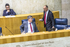 Town Hall. Sao Paulo, Brazil, August 02, 2016. Municipal government or city council working inside Town hall on Anchieta Palace in downtown Sao Paulo Stock Images