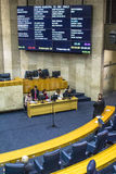 Town Hall. Sao Paulo, Brazil, August 02, 2016. Municipal government or city council working inside Town hall on Anchieta Palace in downtown Sao Paulo Stock Photos