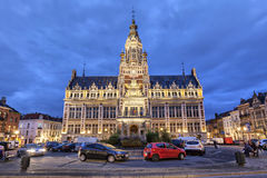 Town hall of Shaerbeek in the evening, Brussels Stock Photography