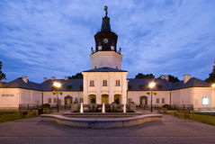 Town Hall in Siedlce, Poland. At night Stock Image