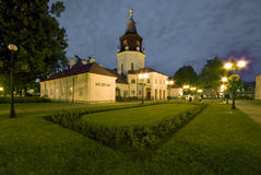 Town Hall in Siedlce, Poland. At night royalty free stock photography
