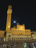 Town Hall in Siena with tourists Stock Images