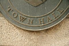 Town Hall sign Stock Photo
