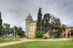 Town Hall in Simcoe, Ontario, Canada. The Town Hall in Simcoe, Ontario, Canada royalty free stock images