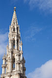 Town hall spire at Grand Place Stock Image
