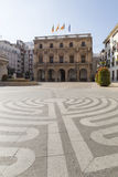 Town Hall Square in Castellón de la Plana Royalty Free Stock Image