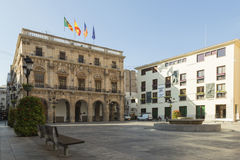 Town Hall Square in Castellón de la Plana Royalty Free Stock Images
