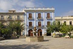 Town hall and square in Chelva, Comunitat Valenciana, Spain Royalty Free Stock Image