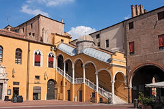 Town Hall Square in Ferrara, Italy Royalty Free Stock Photography
