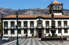Town hall and square in Funchal, Madeira Stock Photo