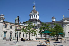 Town Hall and square. Kingstons City Hall at 216 Ontario St. is a national historic site, and remains the centre for administering and governing the City of Royalty Free Stock Photography