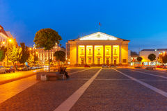 Town Hall Square at night, Vilnius, Lithuania Stock Photos
