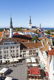 Town hall square in the old town of Tallinn, Estonia on July 26, Stock Photos