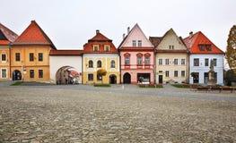 Town Hall square (Radničné námestie) in Bardejov Stock Photo