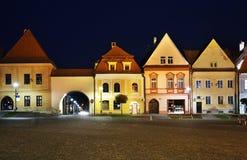 Town Hall square (Radničné námestie) in Bardejov Royalty Free Stock Image