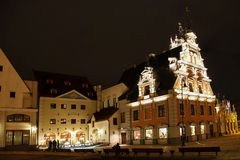 Town Hall Square in Riga at night. Latvia Stock Photography
