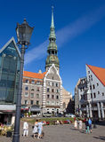 Town Hall Square in Riga Royalty Free Stock Photography