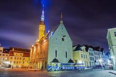 Town Hall Square in Tallinn, Estonia Stock Photo