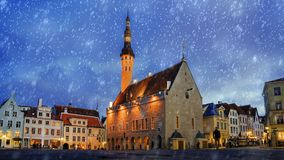 Town Hall Square in Tallinn, Estonia royalty free stock photo